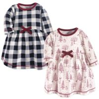 Touched by Nature® Size 12-18M 2-Pack Winter Woodland Dresses in Red