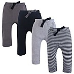 Touched by Nature Size 0-3M 4-Pack Organic Harem Pants in Grey