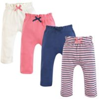Touched by Nature Size 18-24M 4-Pack Organic Cotton Harem Pants in Coral/Blue