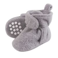 Luvable Friends® Size 0-6M Scooties Fleece Booties in Heather Grey