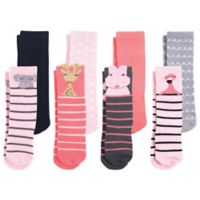Hudson Baby® Size 0-6 8-Pack Safari Girl Knee High Socks