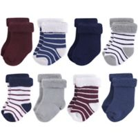 Hudson Baby® 12-24M 8-Pack Stripe Terry Cotton Socks