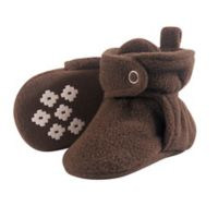 Little Treasure Size 12-18M Scooties Fleece Booties in Brown