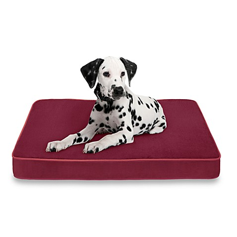Soft Touch Reversible Pet Napper Dog Bed in Ruby/Ruby
