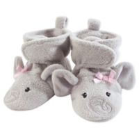 Hudson Baby® Size 12-18M Elephant Fleece Scooties in Grey/Pink