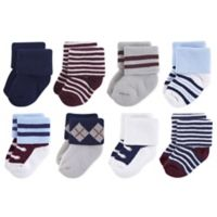 Little Treasures Terry Genius Size 0-6M 8-Pack Socks in Grey