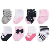 Little Treasures Terry Little Lady Size 6-12M 8-Pack Socks in Black