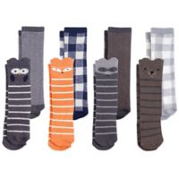 Hudson Baby® Size 0-6M 8-Pack Forest Knee-High Socks in Grey