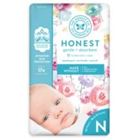Honest 32-Pack Size 0 Diapers in Rose Blossom Pattern
