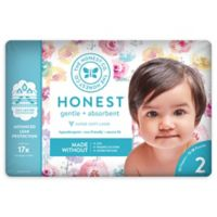 Honest 32-Pack Size 2 Diapers in Rose Blossom Pattern