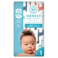 Honest 35-Pack Size 1 Diapers in Multicolored Giraffe Pattern