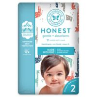 Honest 32-Pack Size 2 Diapers in Multicolored Giraffe Pattern