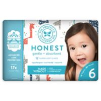 Honest 18-Pack Size 6 Diapers in Multicolored Giraffe Pattern