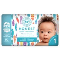 Honest 35-Pack Size 1 Diapers in Painted Feathers Pattern