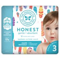 Honest 27-Pack Size 3 Diapers in Painted Feathers Pattern