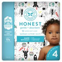 Honest 23-Pack Size 4 Diapers in Space Traveling Pattern