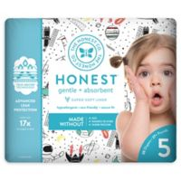 Honest 20-Pack Size 5 Diapers in Space Traveling Pattern
