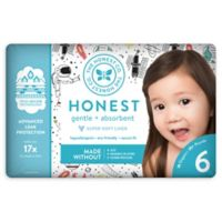 Honest 18-Pack Size 6 Diapers in Space Traveling Pattern