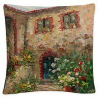 Rio Tuscany Courtyard Square Throw Pillow
