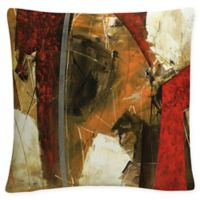 Masters Fine Art Abstract Square Throw Pillow in Red