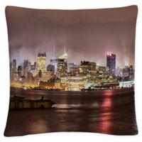 David Ayash Midtown Manhattan Hudson Square Throw Pillow