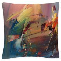 Tapia Garden Square Throw Pillow in Orange
