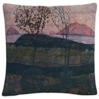 Setting Sun Square Throw Pillow in Grey