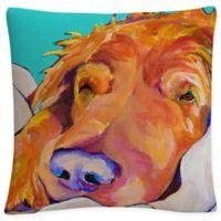 White Snoozer King Square Throw Pillow in Orange