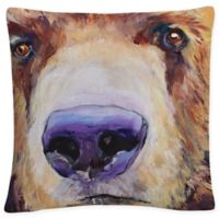 White the Sniffer Square Throw Pillow