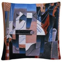 Still Life with Violin and Guitar Square Throw Pillow
