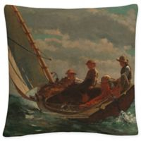 Breezing Up A Fair Wind Square Throw Pillow in Brown