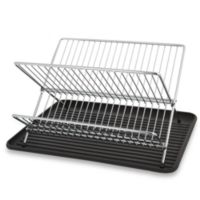 Folding Dish Rack and Drain Board Set