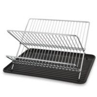 Folding Dish Rack and Drain Board Set