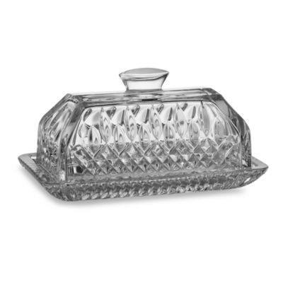 waterford lismore crystal covered butter dish