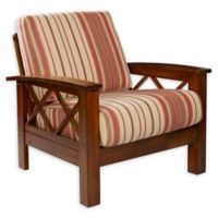 Handy Living® Wood Upholstered Riverwood Chair in Red