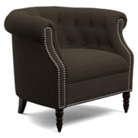Handy Living® Wood Upholstered Casey Chair in Brown