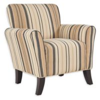 Handy Living® Wood Upholstered Sean Chair in Brown/black