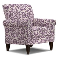 Handy Living® Wood Upholstered Janet Chair in Amethyst