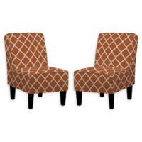 Handy Living® Wood Upholstered Bryce Chairs in Orange (Set of 2)