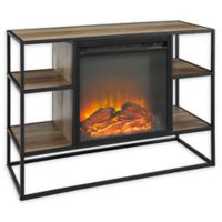 "Forest Gate 40"" Elm Industrial Modern Fireplace TV Console in Rustic Oak"