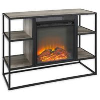 "Forest Gate 40"" Elm Industrial Modern Fireplace TV Console in Grey"