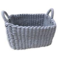 Bee & Willow™ Home Rectangular Woven Cotton Storage Basket in Grey