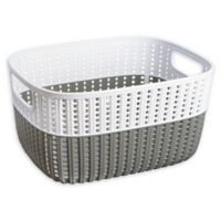 Simplify 2-Tone Decorative Small Storage Basket in Grey
