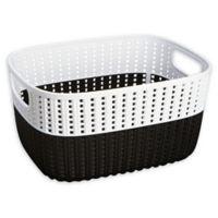 Simplify 2-Tone Decorative Small Storage Basket in Black