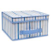 Laura Ashley Kids Medium Collapsible Storage Box in Painterly Blue Stripe