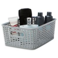 Simplify Textile Weave Medium Storage Tote in Grey