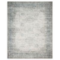"Magnolia Home by Joanna Gaines™ Lucca 7'6"" X 9'6"" Powerloomed Area Rug in Mist/ivory"