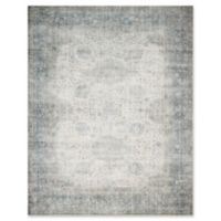"Magnolia Home by Joanna Gaines™ Lucca 9'6"" Runner Powerloomed Rug in Mist/Ivory"