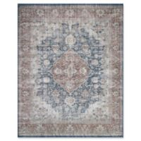 Magnolia Home by Joanna Gaines Lucca 2'6 x 7'6 Runner in Denim/Terracotta
