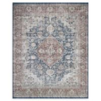 Magnolia Home by Joanna Gaines Lucca 10' x 13' Area Rug in Denim/Terracotta
